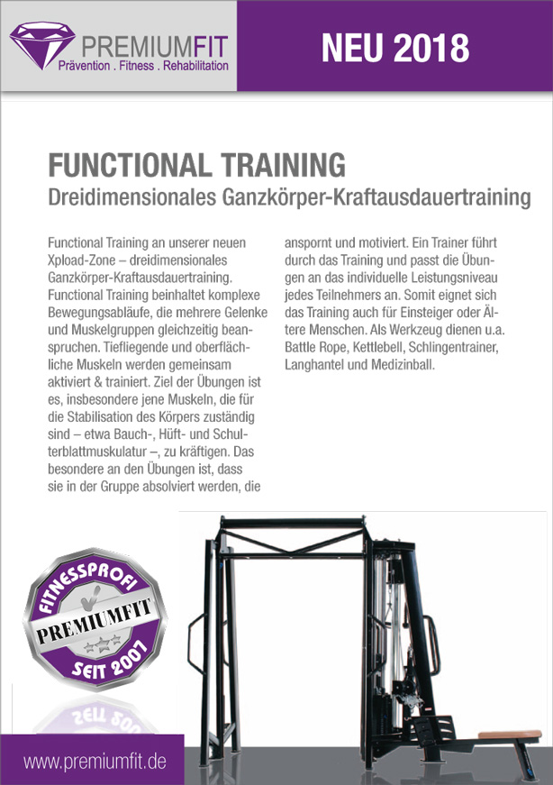 Premiumfit Flyer Functional Training Fitnessstudio Siegen